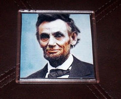 Color Abe Abraham Lincoln Coaster 4 X 4 inches , 1861-65 Abraham Lincoln - n/a, Final Score Products