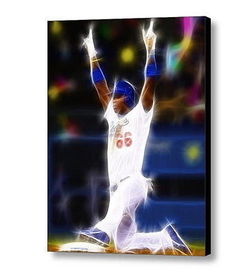 Framed LA Dodgers Yasiel Puig Magical Art Print Limited Edition w/signed COA