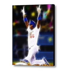 Framed LA Dodgers Yasiel Puig Magical Art Print Limited Edition w/signed COA , Prints - n/a, Final Score Products