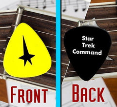 Star Trek Command Shield Set of 3 premium Promo Guitar Pick Pic , Other - n/a, Final Score Products