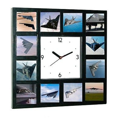 Air Force Stealth Bomber Fighter Plane Jet War Clock 12 pictures , Photographs - n/a, Final Score Products