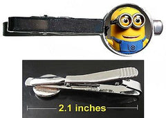 Despicable Me 2 Minion Dave Tie Clip Clasp Bar Slide Silver Metal Shiny , Jewelry - n/a, Final Score Products