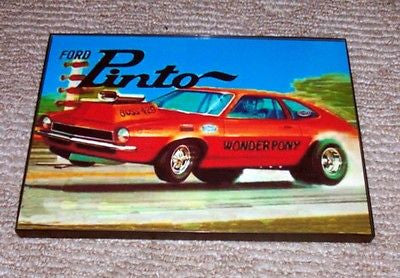 framed 1971 AMT Ford Pinto model wall art Boss 429 Pony