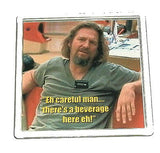 The Big Lebowski Dude Abide beverage Coaster with quote , Other - n/a, Final Score Products