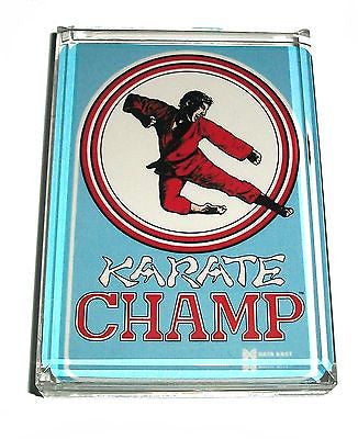 Karate Champ Video Game Acrylic Executive Display Piece or Desk Top Paperweight