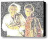Doc Marty Back To The Future Word Mosaic Framed 9X11 inch Limited Edition Art , Other - n/a, Final Score Products