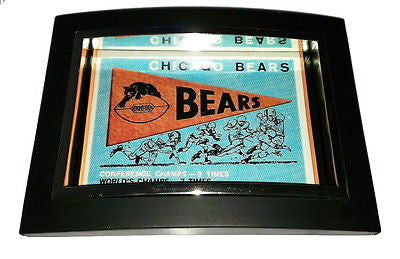 Mini 1950s Chicago Bears Pennant Framed Art Print Display Memorabilia Man Cave , Prints - n/a, Final Score Products