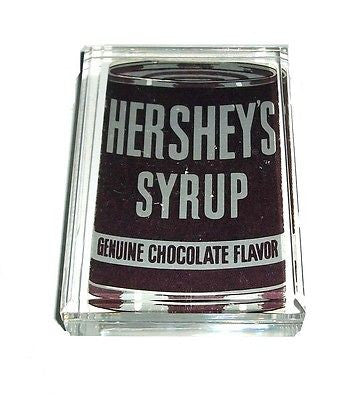 Acrylic retro Hershey's Chocolate syrup can Desk Top Paperweight , Cocoa & Baking Chocolate - n/a, Final Score Products