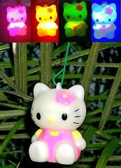Blinking Hello Kitty light Holiday Tree ornament or rear view mirroe hanger , Hello Kitty - n/a, Final Score Products