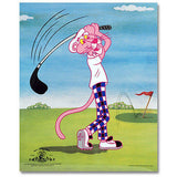 Limited Edition PINK PANTHER Golf Sericel 13X16 COA! , Pink Panther - n/a, Final Score Products  - 2