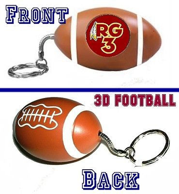 Washington Redskins RG3 mini Football Key Chain NEW Keychain Key Ring , Football-NFL - n/a, Final Score Products
