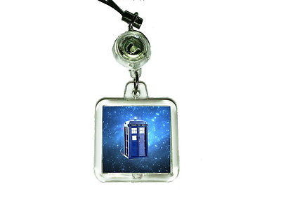 Dr. Doctor Who Tardis Cell Phone Blinking Flashing Charm
