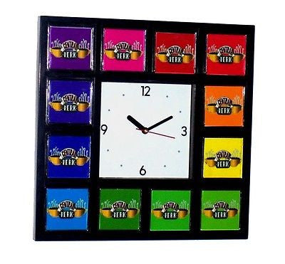 FRIENDS tv Show Central Perk Color Wheel Clock with 12 images