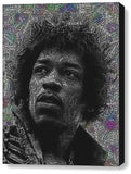 Jimi Hendrix Word Mosaic INCREDIBLE Framed 9X11 inch Limited Edition Art w/COA , Other - n/a, Final Score Products