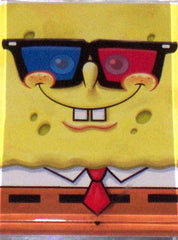 Official Spongebob Squarepants wearing 3D glasses Fridge Magnet 2.5 X 3.5 , Fridge Magnets - n/a, Final Score Products