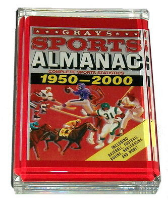 Back To The Future II Grays Almanac Book Cover prop Acrylic Paperweight