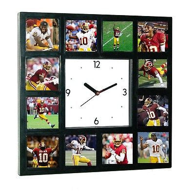Washington Redskins Robert Griffin III RG3 Clock with 12 pictures , Football-NFL - n/a, Final Score Products