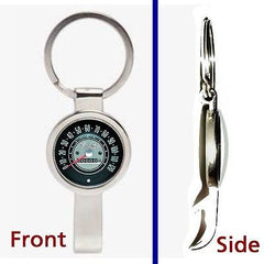 1965 Chevy Nova Speedometer Pennant or Keychain silver tone secret bottle opener , Chevrolet - n/a, Final Score Products