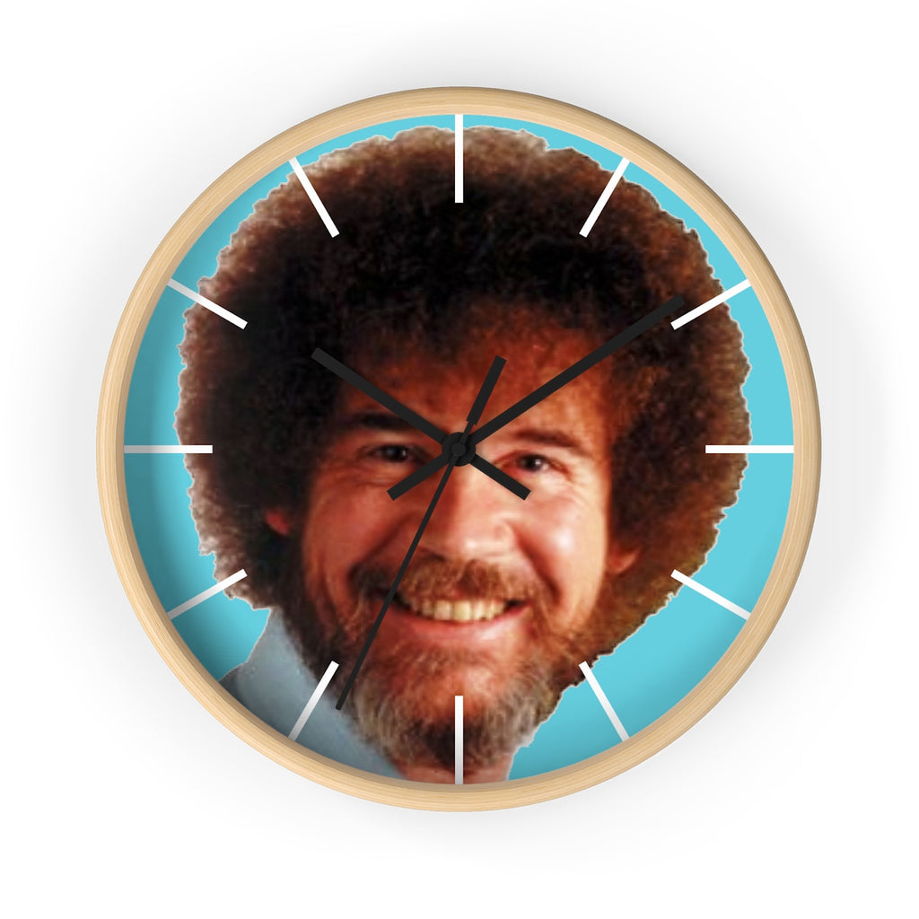 Bob Ross Happy Little Wall clock