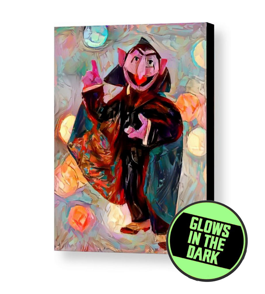 Framed The Count Sesame Street Glow In The Dark Framed Cool Blacklight Mini Movie Poster