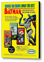 1965 Aurora Model Kits Batman Wonder Woman Superman Superboy Framed Magazine Ad , framed ad - Final Score Products, Final Score Products  - 1