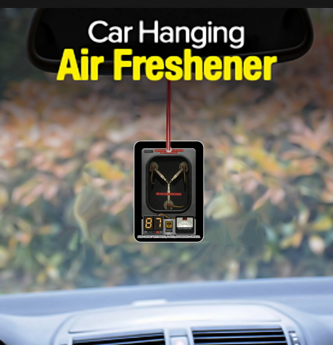 Back To The Future Flux Capacitor mini Poster Car Air Freshener Promo 4 inches