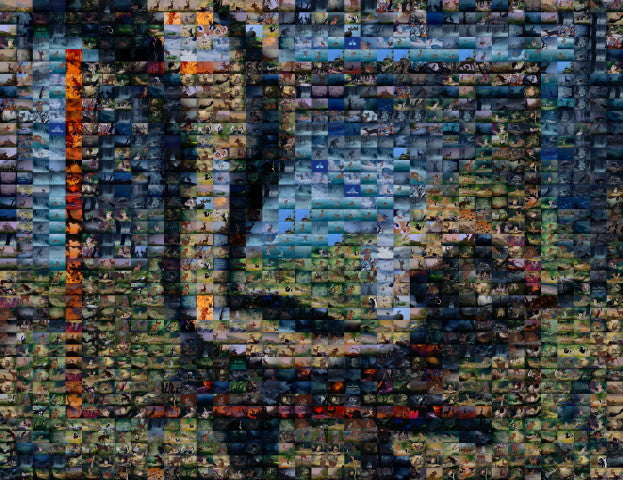 Amazing Bambi Flower skunk movie scene Mosaic INCREDIBLE