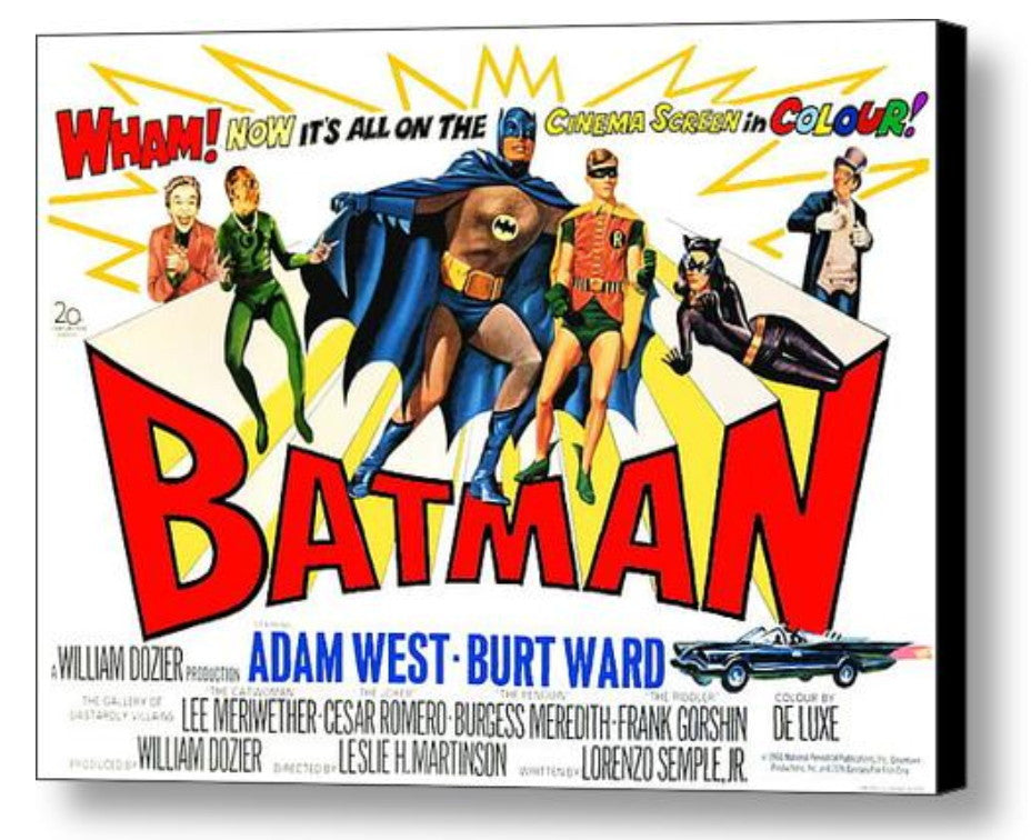 1966 Batman Vintage Movie Poster Comic restored XTRA-Color Adam West , Posters, Prints & Pictures - Final Score Products, Final Score Products