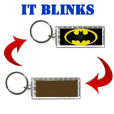 Blinking Batman Bat Signal Solar Keychain No Batteries Needed See Video , Keyrings - Final Score Products, Final Score Products