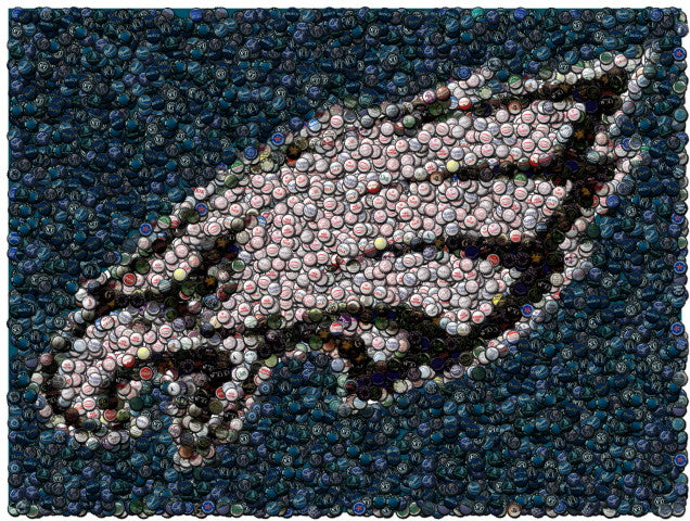 Philadelphia Eagles Bottle cap Mosaic Print Limited Edition , Posters, Prints & Pictures - Artist Paul Van Scott, Final Score Products  - 1