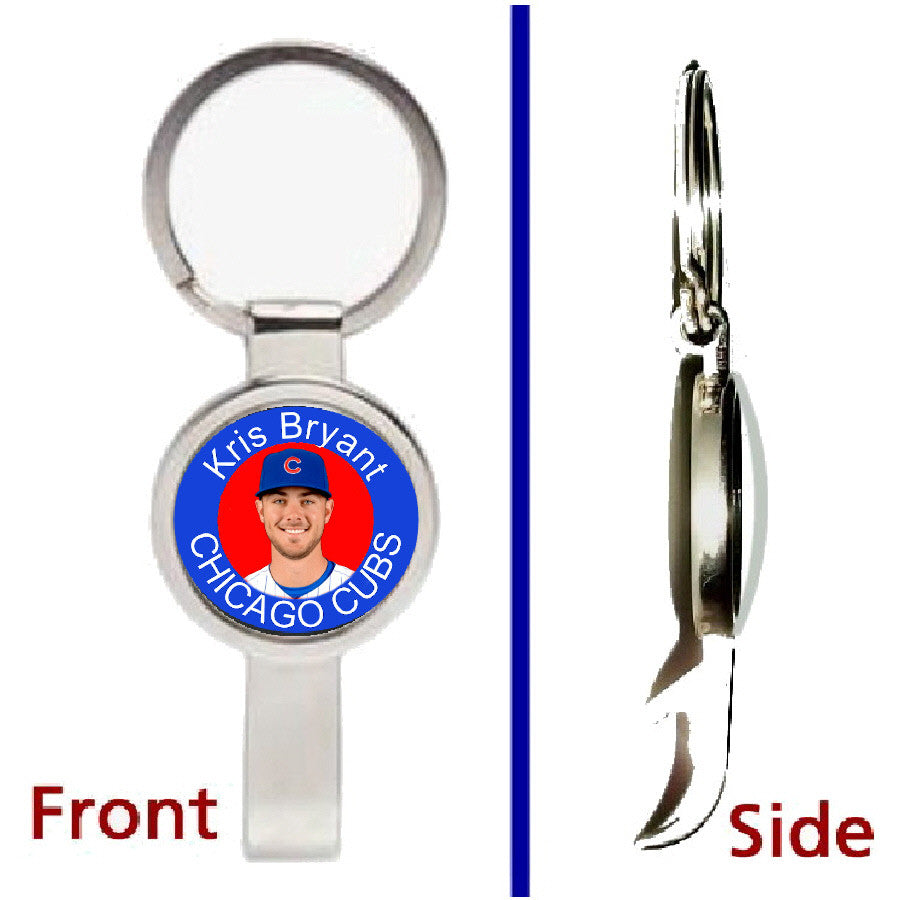 Kris Bryant Chicago Cubs Secret Pendant or Keychain silver tone secret bottle opener