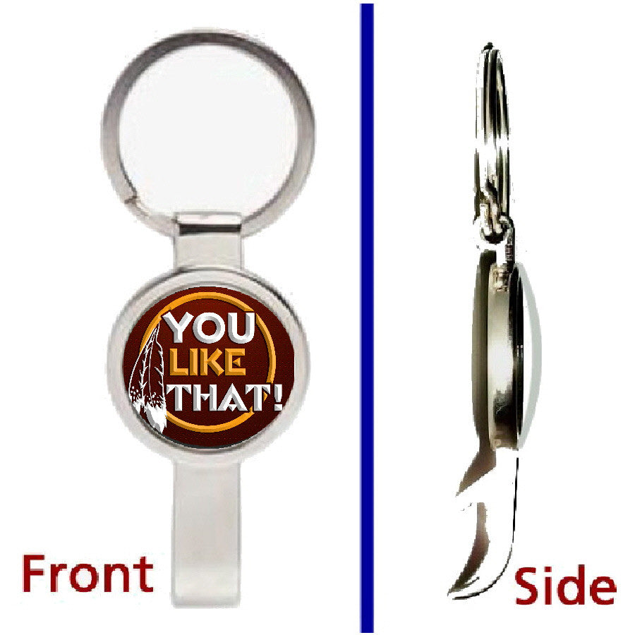 Washignton Redskins You Like That Pennant Keychain silver tone secret bottle opener