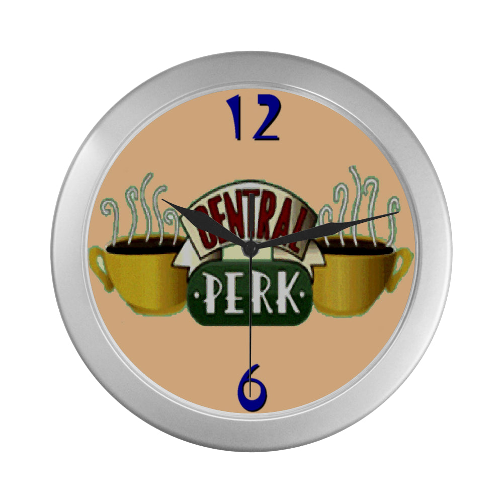 Central Perk Silver Color Wall Clock