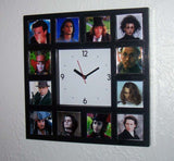Johnny Depp Glow-In-The-Dark 12 Movie Roles Photo Clock