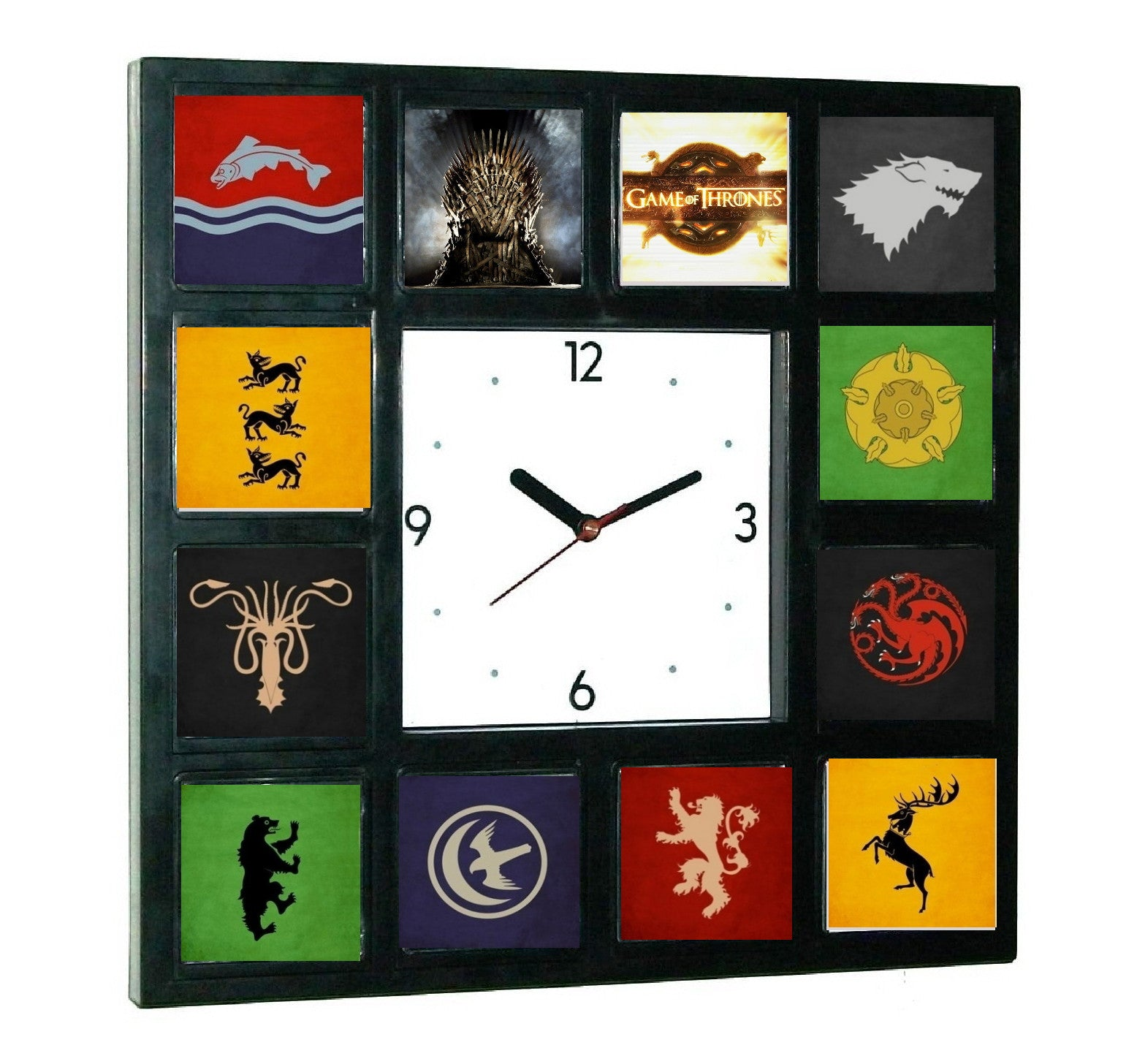 Game Of Thrones symbols Clock with 12 images , Private Aircraft - n/a, Final Score Products