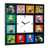 Minions Movie Clock w/ 12 Pictures NOW available in Glow In The Dark , clock - Final Score Products, Final Score Products