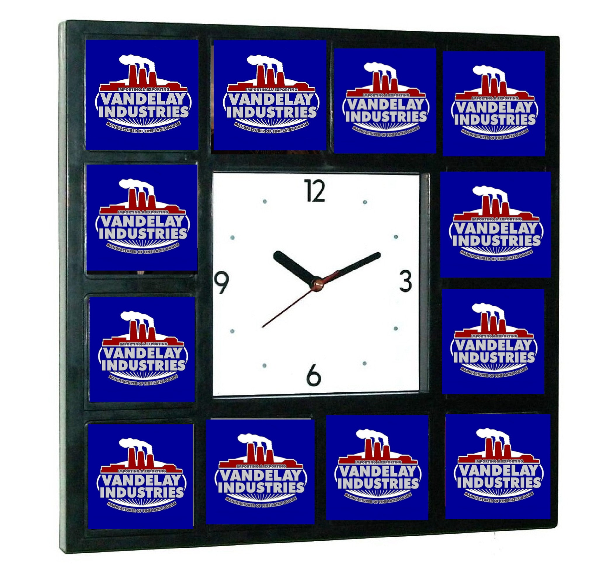 Seinfeld George Castanza Vandelay Industries promo around the Clock Big Wall or Desk Clock , TV Memorabilia - Final Score Products, Final Score Products
