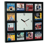 World War II WPA posters Wall or desk clock , Watches & Clocks - n/a, Final Score Products