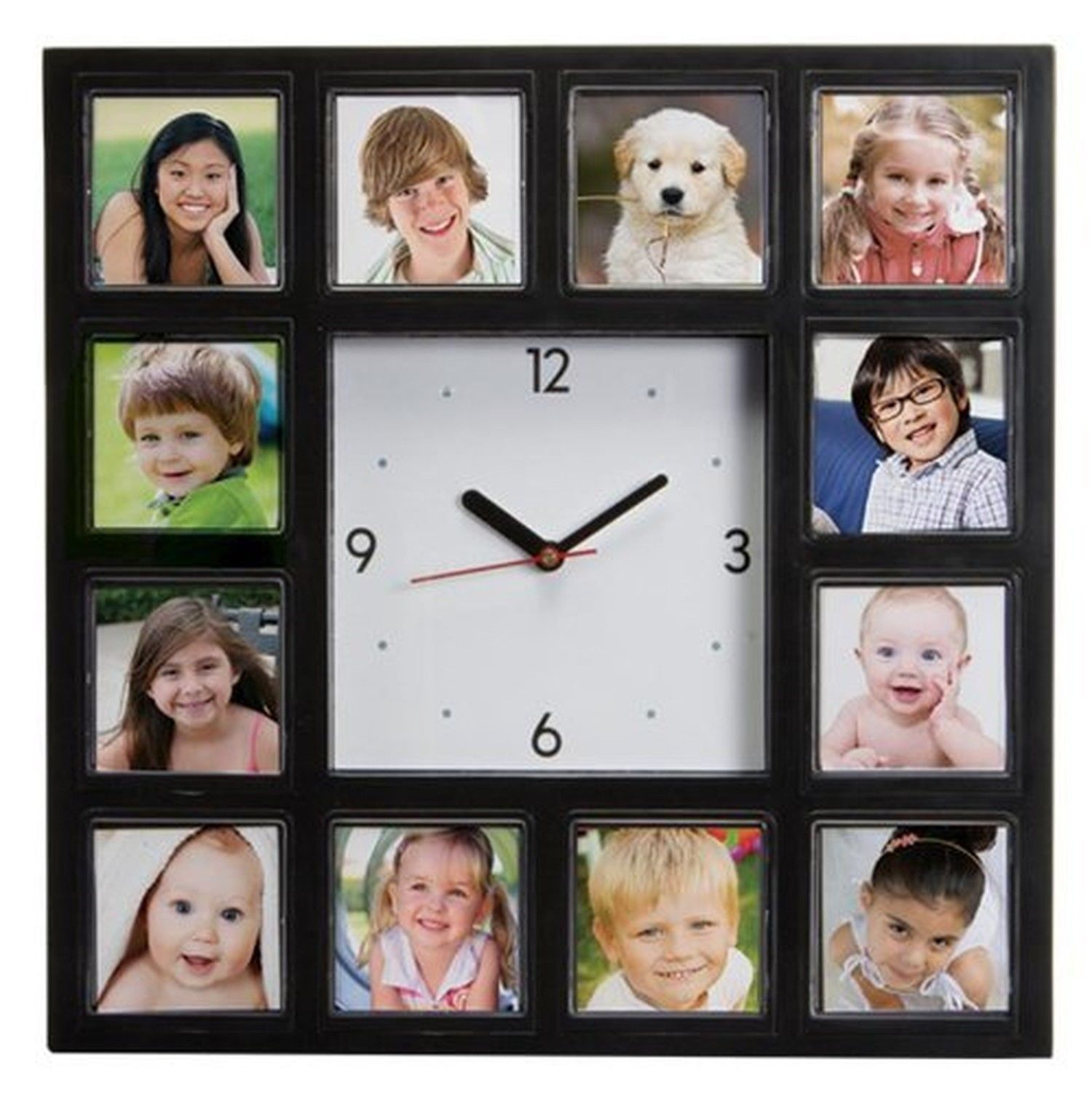 Make Your Own Custom Customized Personel Multi-Photo Clock Design your own wall clock