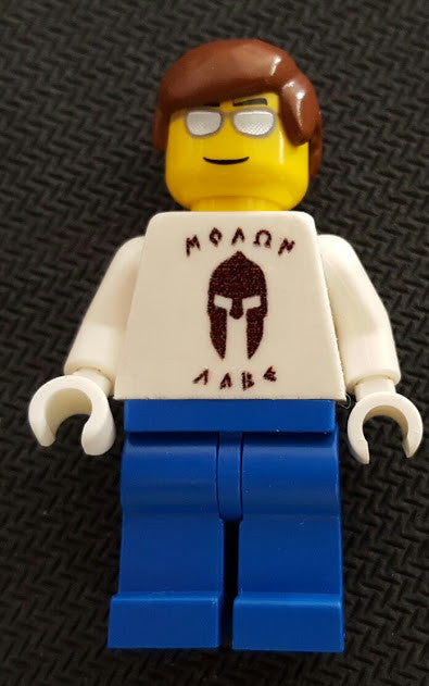CUSTOM Lego Minifigure Rare Promo Cool Shirt Fan Man