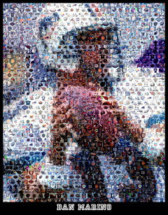 Dan Marino Mosaic Print Limited Edition , Posters, Prints & Pictures - Artist Paul Van Scott, Final Score Products  - 1