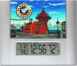 Futurama Planet Express Digital Wall Desk Clock with temperature and alarm , Clocks & Radios - Final Score Products, Final Score Products