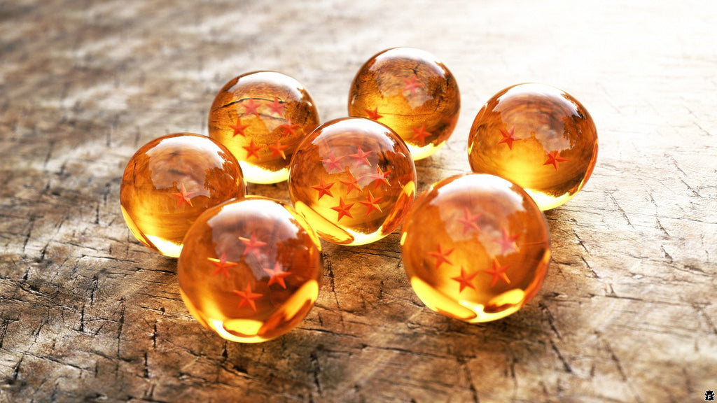 Set of 7 Dragon Balls Z real balls