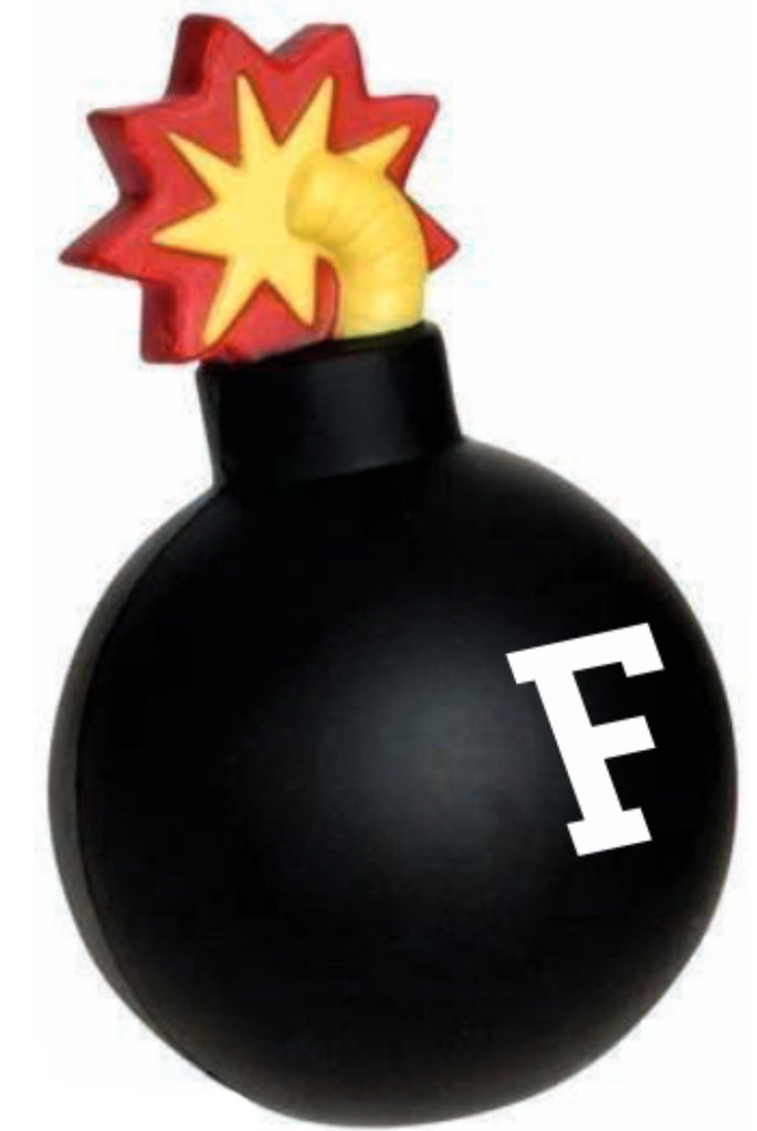 Funny F Bomb F- Gag office Prank Stress Ball