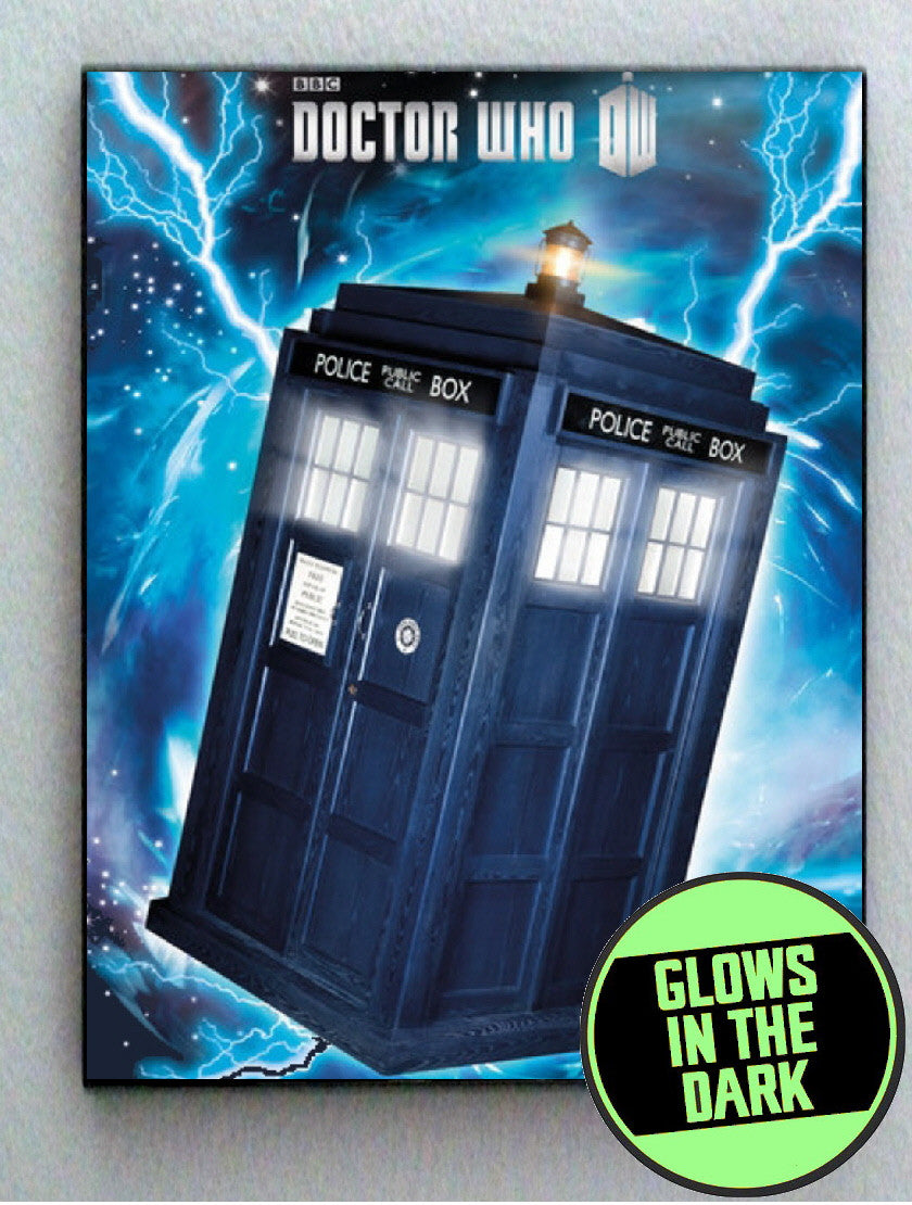 Dr. Doctor Who Tardis Glow In The Dark Framed Cool Blacklight Mini Movie Poster ,  - Final Score Products, Final Score Products  - 1