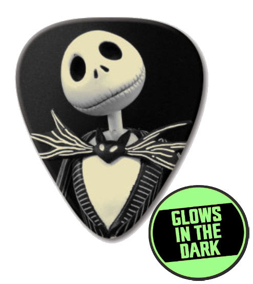The Nightmare Before Christmas Jack Skellington GLOW in the Dark Promo Guitar Pick