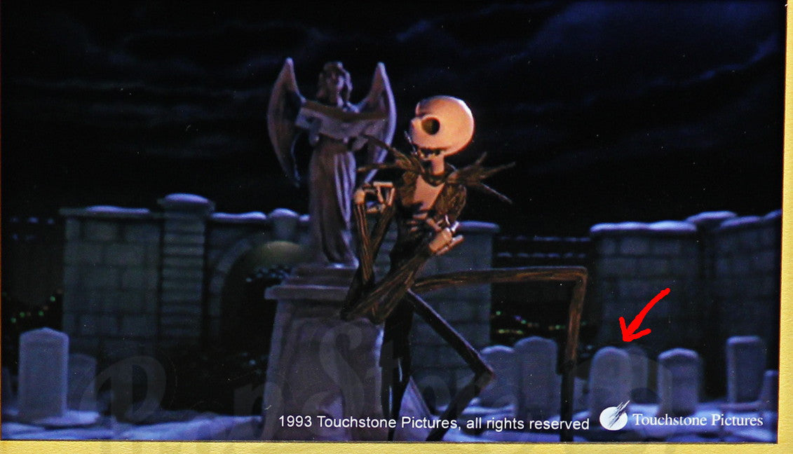 the nightmare before christmas poor jack tombstone display actual real screen used prop - Nightmare Before Christmas Theory