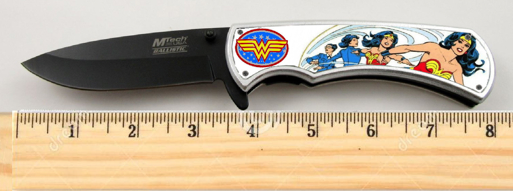 "Wonder Woman Limited Edition Spring Assisted Knife 4.5"" when closed , knives - Final Score Products, Final Score Products  - 1"