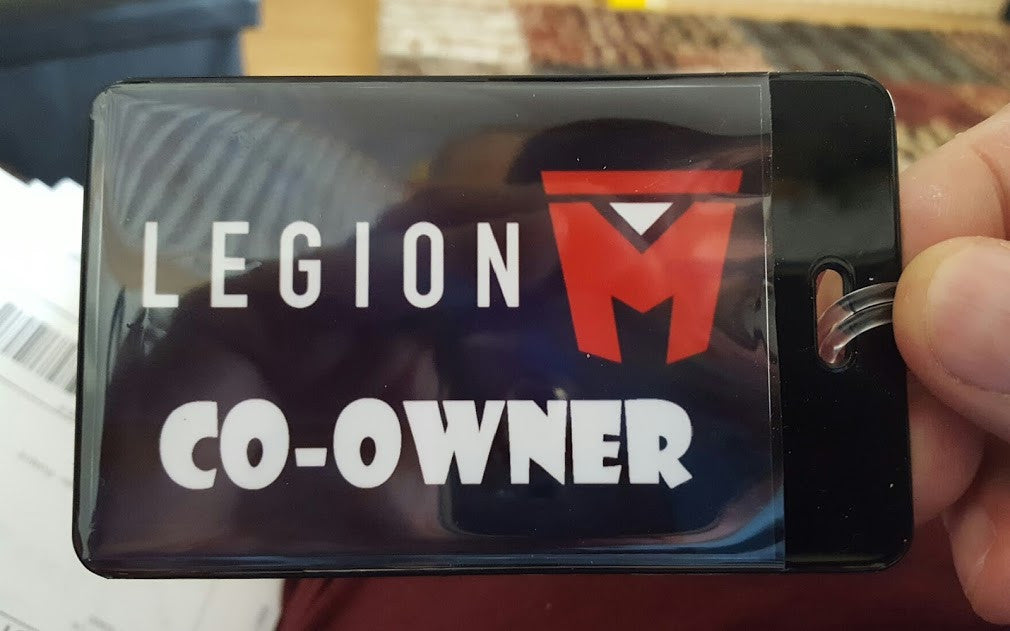 Legion M Co-Owner Luggage Laptop Book Bag Tag , bag tag - Final Score Products, Final Score Products  - 1
