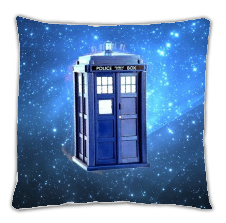 Dr. Doctor Who Tardis 18 X 18 inch two sided image throw pillow , pillow - Final Score Products, Final Score Products  - 1